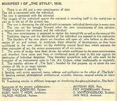 De Stijl manifesto, 1918